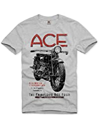 style3 moto motocycle ACE T-Shirt Homme Biker Bike tattoo tatouage