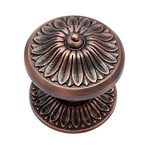 Adonai Hardware Manoah Brass Door Knob with Rose (Antique Copper)