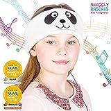 Snuggly Rascals (v.2) Kinder-Kopfhörer, Ultra-bequem, größenverstellbar und mit begrenzter Lautstärke (Baumwolle, Panda)