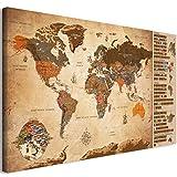 murando - Rubbelweltkarte Türkisch Pinnwand - 90x45 cm - Weltneuheit: Weltkarte zum Rubbeln - Laminiert (beschreib- & abwischbar) - Rubbelkarte mit Fahnen/Nationalflaggen k-A-0326-o-c