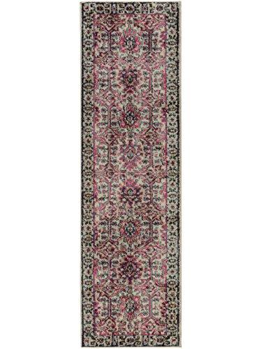 (Benuta Teppich Läufer Casa, Kunstfaser, Beige/Pink, 70 x 240.0 x 2 cm)