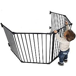 Monsieur Bébé ® Parc ou Barrière de sécurité et cheminée enfant 310cm (5 côtés) / Norme NF EN1930-2011