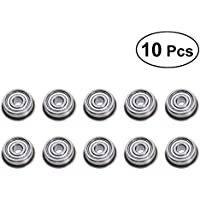 UEETEK Rodamientos de bolas con reborde de acero F623ZZ de 10pcs con borde 3x10x4mm
