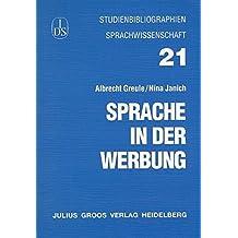 Studienbibliographien - Sprache in der Werbung