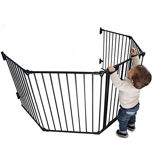 Monsieur Bébé ® Baby safety gate or security playpen and fireplace 310cm (5 sides) / Standard NF EN1930 - 2011