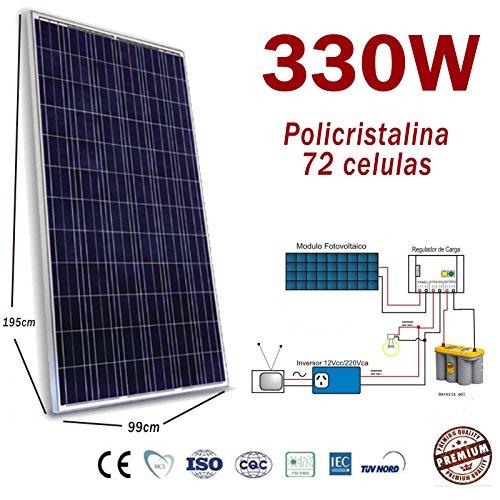 Solarpanel 330W Solarmodul Photovoltaik Polycrystalline für 24V 48V