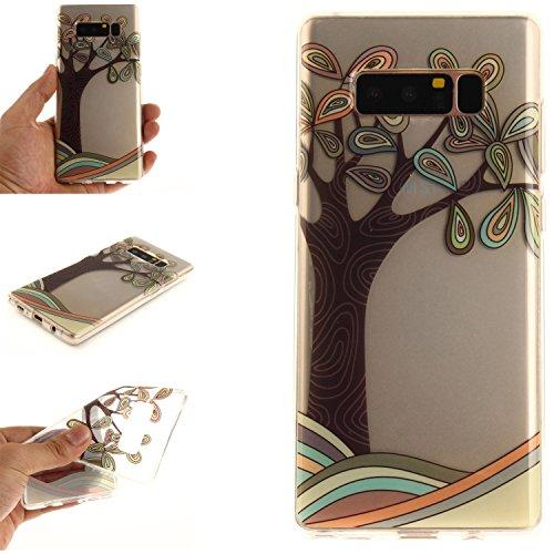 Ooboom® iPhone X Coque Housse Transparent TPU Silicone Gel Étui Cover Case Ultra Mince Slim pour iPhone X - Tournesol Noir Arbre