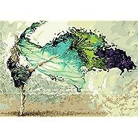 5d Diamond Pintura de Diamante Taladro Completo Diamante Pintar por número Kits DIY Painting para Adultos Artes del bordado de punto de cruz (Dancer, 40x30cm)