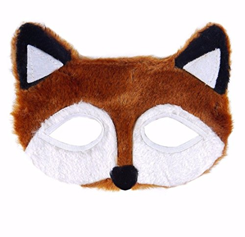 Fantastische Furry Eye Maske Jungle Zoo Scary Fancy Kleid Zubehör für Kinder, Jugendliche und Erwachsene Unisex UK von - Halloween-kostüme Für Scary Jugendliche