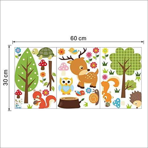 QTHBW Wandaufkleber Wandsticker Wandtattoos Wandbilder Safari Abenteuer Dekorative Wand Kunst Aufkleber Crazy Dschungel Tiere Baby Nursery Wall Sticker Aufkleber