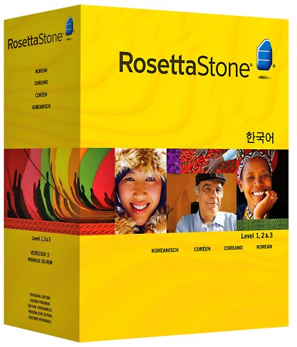 Rosetta Stone Version 3: Korean Level 1, 2 and 3 Set with...
