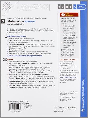 Matematica.azzurro. Con Maths in english. Per le Scuole superiori. Con e-book. Con