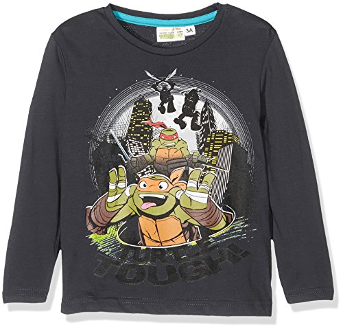 Nickelodeon Jungen T-Shirt Mutant Ninja Turtles, Grau (Meteor), 8 ()