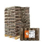 PALIGO Holzbriketts Nestro Hartholz Eiche Kamin Ofen Brenn Holz Heiz Brikett 6kg x 162 Gebinde 972kg / 1 Palette Heizfuxx