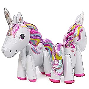 whatUneed 2PCS Unicorn Balloons, Party