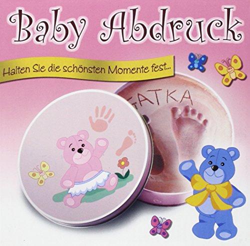 Preisvergleich Produktbild Baby-Gips-Abdruck für Mädchen in einer Geschenkdose: Halten Sie die schönsten Momente fest...