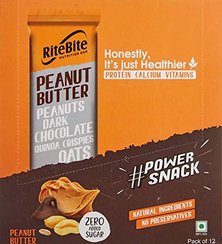 RiteBite Max Protein Peanut Butter, 480 g - Pack of 12