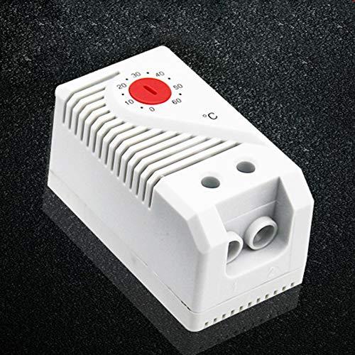 Temperaturregler Home Signal Gerät Schrank Mini kompakt mechanisch Thermostat Schalter Connect Messung Einfache Bedienung Regler Sensor Heizung Filter Lüfter, rot -