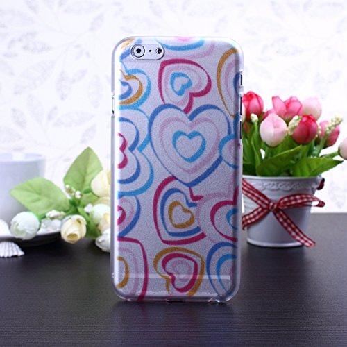 Hard Case Colorful mignon Fleurs Cartoon Papillon Conception de coeur givré mat en plastique pour iPhone 6S 6 ( Color : 7 , Size : IPhone 6S 6 ) 19