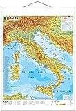Italien physisch - Wandkarte mit Metallbeleistung - Stiefel Eurocart