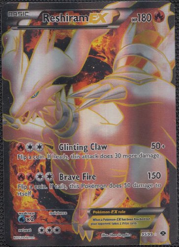 Pokemon–Carte Noir et Blanc Art Next destinées (Full)–reshiram-ex 95/99
