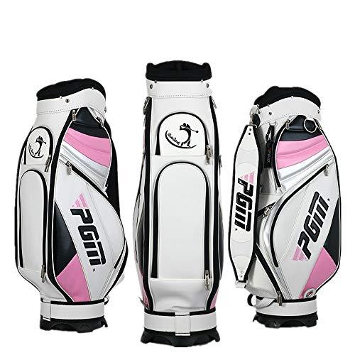 YCGJ Superleichte Golf-Standardtasche und kann 13 Schläger installieren, Wasserdichte PU Lady Golf Cart Bag,Pink -