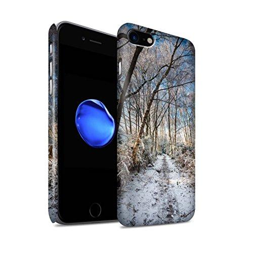 STUFF4 Matte Snap-On Hülle / Case für Apple iPhone 8 / Gefrorenen Weg Muster / Winter Saison Kollektion Gefrorenen Weg