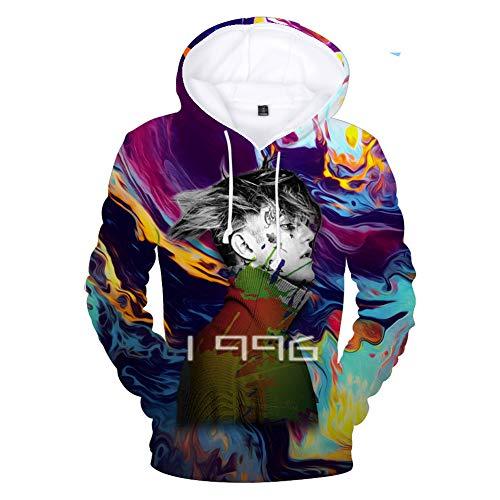 Kapuzen Xl Sweatshirt Jersey (WTZFHF 3D Hoodie Mit Kapuze Sweatshirt Jersey, Straße Cosplay Lil Peep Gedenkkleid Pullover Frühling Und Herbst Sport Pullover Mode Männe)
