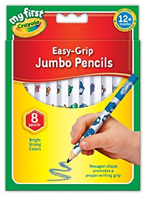 Crayola My First Jumbo Easy Grip Colouring Pencils, Pack of 8 : everything 5 pounds (or less!)