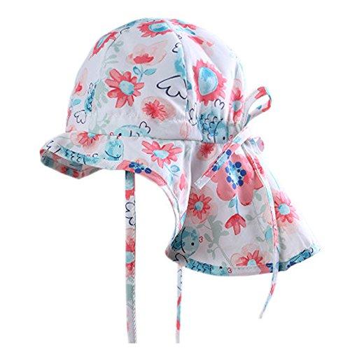 Schirmmützen Sonnenhut für Mädchen mit Nackenschutz, Baby UV-Schutz Sommermütze,...