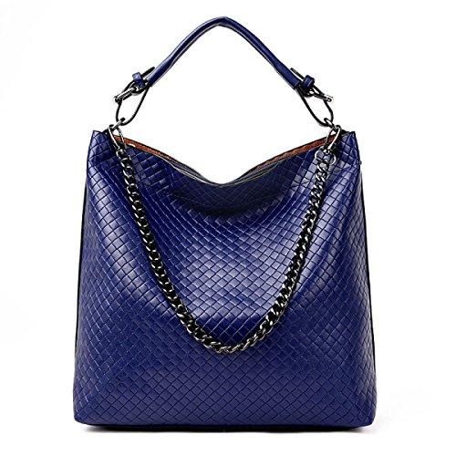 Borsa A Tracolla Delle Donne Europa Moda Pu Secchio Grande Capienza Delle Signore Vestiti Casual Borsa Messenger Bag Blu