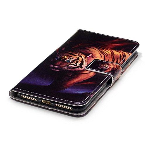 Linvei iPhone 7 Plus(5.5inch) Coque,Etui Anti Chocs Back Cover Bumper Case Anti Scratch Shock Absorption for Apple iPhone 7 Plus(5.5inch)-Conception de fleurs de prunier Tigre