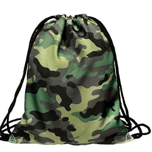 Kordelzug Cross-body-tasche (Druck Taschen Fashion Rucksäcke Kordelzug Rucksack Camouflage Staubbeutel)
