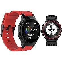 Garmin Forerunner 225 Correa con protector de pantalla, TUSITA reemplazo de silicona suave ajustable brazalete de la pulsera de pulsera WristBand para Garmin Forerunner 225 GPS Watch (rojo)
