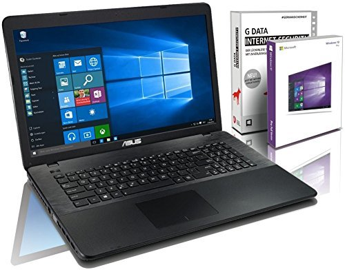 ASUS (17,3 Zoll) Notebook (Intel N3050 Dual Core 2x2.16 GHz, 8GB RAM, 750GB S-ATA HDD, Intel HD Graphic, HDMI, VGA, Webcam, USB 3.0, WLAN, DVD-Brenner, Windows 10 Professional 64-Bit) [geprüfte erneut verpackte Originalware] #5117