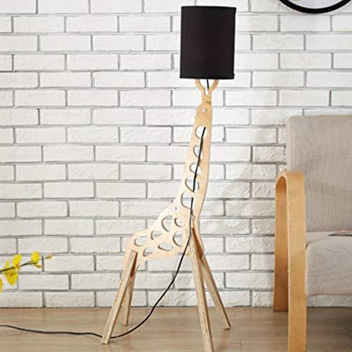 LAMPES À PLANCHER INTÉRIEUR ZXC YWXLigh Lampadaire Giraffe Assemblé DIY Blanc Chaud (Couleur : Black)