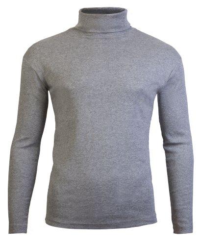 Polo-hälse (Brody & Co.Herren Langarmshirt, Einfarbig Schwarz Schwarz, Grau, M)