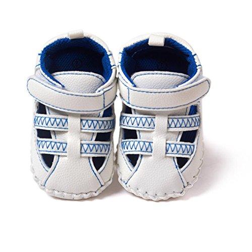 Ouneed® 0- 18 mois BeBe Sandale Premier Pas (11, Bleu) Bleu