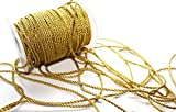 50 m Kordel 3 mm breit : Gold glänzend