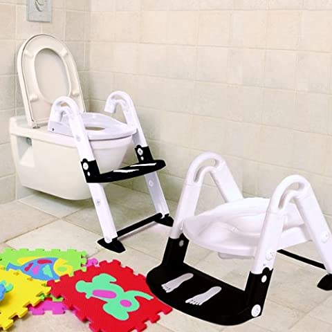 Kids Kit 3-in-1 Toilet Trainer Glow in the Dark (Black/ White)