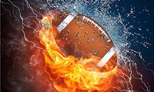 rei 5D DIY Diamant Zeichnung Stickerei Dekoration Magie Malerei Diamant Kreuzstich Kristall Spuare & Runde Sets Ball Sport Rugby, 50 cm X 60 cm ()