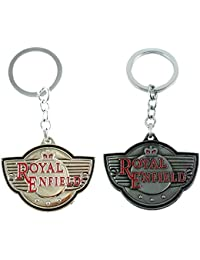 Eshoppee Metal Royal Enfield Keychain COMBO For Cars And Bikes
