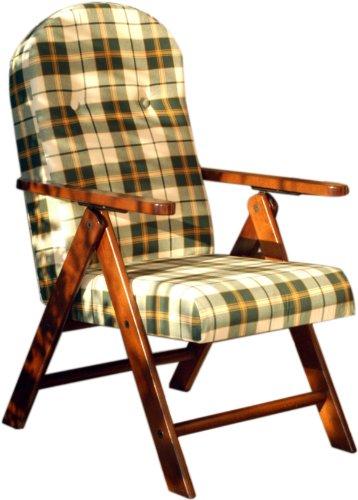 Poltrona sedia sdraio relax in legno pieghevole cuscino for Sedia pieghevole ikea