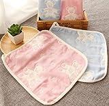 Tutoy 3pcs neonato bambino asciugamano jacquard di cotone a sei strati bavetta bavaglino bambino viso infermiera asciugamano piccolo 25 * 25 casuale a tre combinazioni di colori