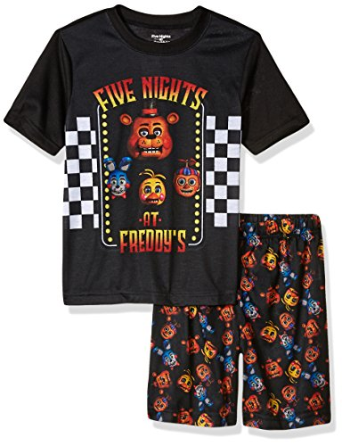 Five Nights At Freddy's Big Boys' Animatronic Bunch S Shorts Pajama Set (10-12)