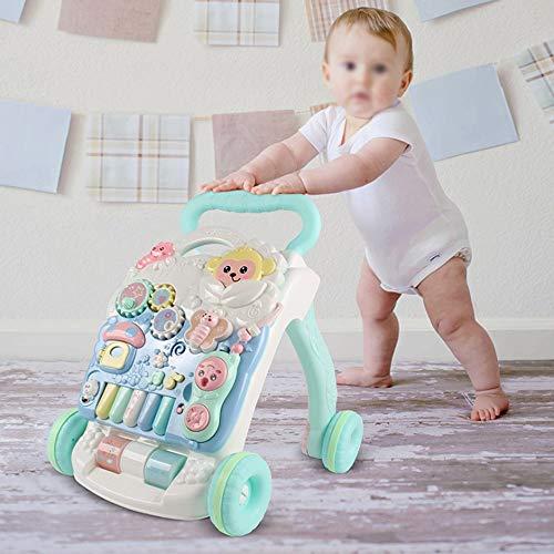 Baby-Activity Walker, Erste Schritte Baby-Wanderer mit Lichtern Sounds -Verstellgeschwindigkeit Baby-Wanderer Auto Lernen Spielzeug für Jungen und Mädchen, Intelligence Development