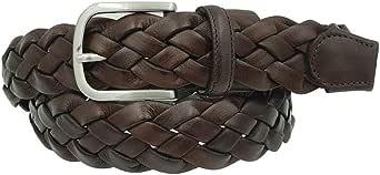 ESPERANTO Cintura intrecciata vero cuoio e pelle unisex 3,5 cm artigianale accorciabile - 4 varianti