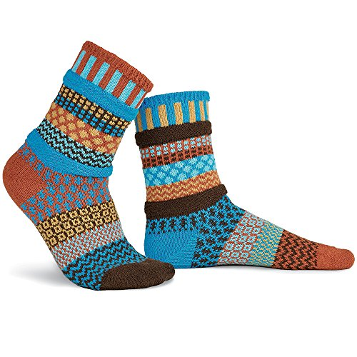 Solmate Socks Damen Herren Socken Baumwollgarn Bernstein Himmel Mittel (3pk No Sock Show Kinder)