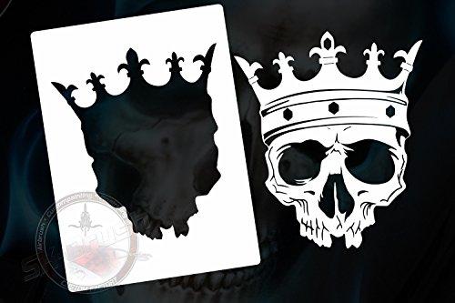 Airbrush Schablone für Schädel - Totenköpfe - Skull's Kopf (Schädel Malen Schablonen)