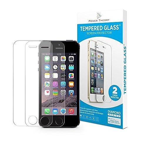 iPhone SE 5/5s Panzerglas (2 Stück) - Japanisches 9H Tempered Glass Hartglas, HD Displayschutzfolie, Panzerglasfolie, Handy Schutzglas Glasfolie, Schutzfolie Gehärtetes Panzerfolie Glas